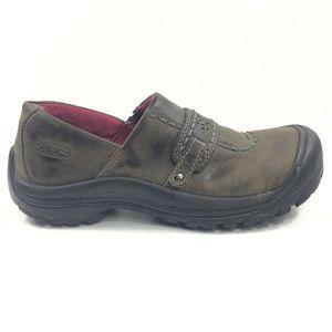 Keen Womens Kaci Slip-On Shoes Cascade Brown 9 W